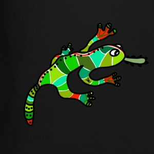 Nice gecko lizard ethno green red exotic tropical - Crewneck Sweatshirt
