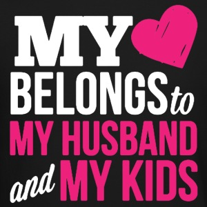 MY HEART BELONGS TO MY HUSBAND AND MY KIDS - Crewneck Sweatshirt