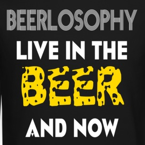 BEERLOSOPHY- LIVE IN THE BEER AND NOW - Crewneck Sweatshirt