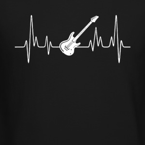 Electric Guitar Heartbeat Shirt - Crewneck Sweatshirt