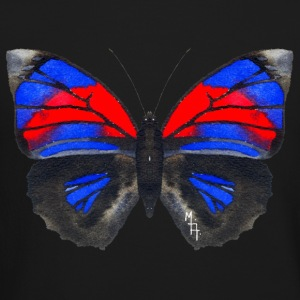 Blue and Red Butterfly in Watercolor - Crewneck Sweatshirt