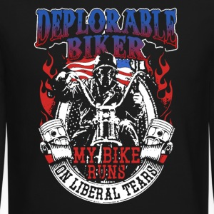 Deplorable Biker Tee Shirts - Crewneck Sweatshirt