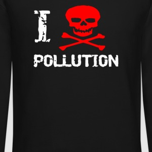 I Skull Pollution I heart - Crewneck Sweatshirt