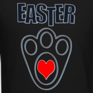 Easter Bunny Footprints, Easter Heart Bunny - Crewneck Sweatshirt