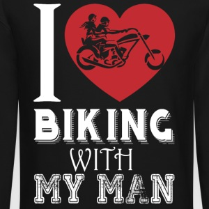 I Love Biking With My Man T Shirt - Crewneck Sweatshirt