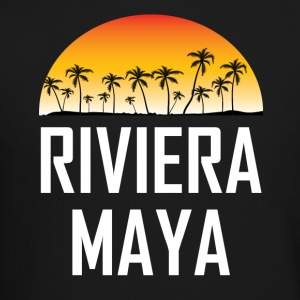 Riviera Maya Mexico Sunset Palm Trees Beach - Crewneck Sweatshirt