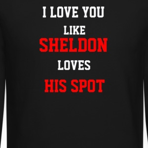 I love you like Sheldon loves his spot - Crewneck Sweatshirt