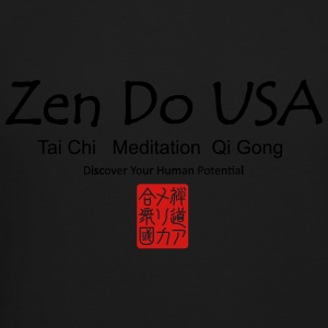 Zen Do USA logo and cell phone clothing busshist - Crewneck Sweatshirt