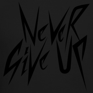 Never Give up (Black) - Crewneck Sweatshirt