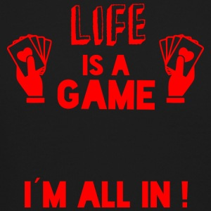 LIFE IS A GAME - IAM ALL IN red - Crewneck Sweatshirt