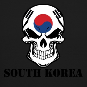 Korean Flag Skull South Korea - Crewneck Sweatshirt
