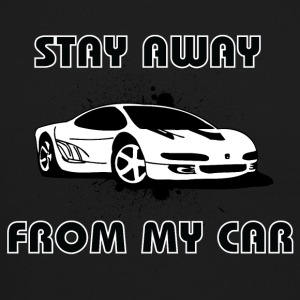 Stay_Away_from_my_car_black_white - Crewneck Sweatshirt