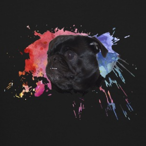 Pug Paint Splatter - Crewneck Sweatshirt