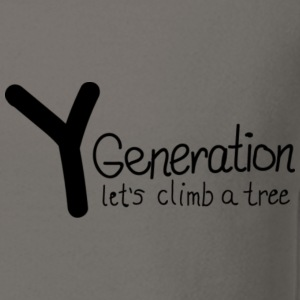 Generation Y - let's climb a tree - Crewneck Sweatshirt