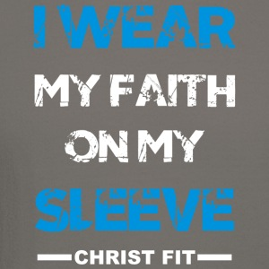 I wear my faith blue n white - Crewneck Sweatshirt