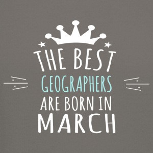 Best GEOGRAPHERS are born in march - Crewneck Sweatshirt