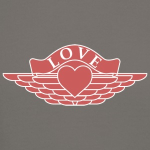 Love - Wings Design (Red/White) - Crewneck Sweatshirt