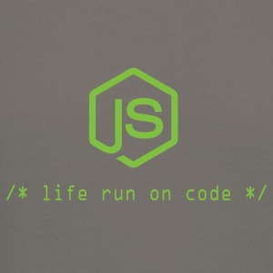 Life run on code - Gift for Node.js Programmer - Crewneck Sweatshirt