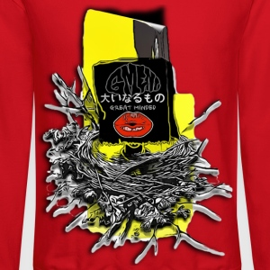 GREAT MINDED NESTING WITH JAPANESE WRITING & LIPS - Crewneck Sweatshirt