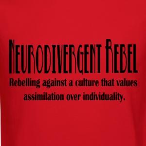 Neurodivergent Rebel - Black Text - Crewneck Sweatshirt