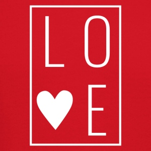 Love - Heart Box Design (White Letters) - Crewneck Sweatshirt