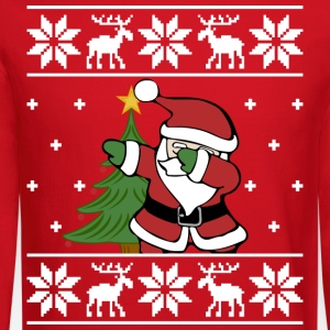 Ugly Sweater Dabbing Santa - Crewneck Sweatshirt