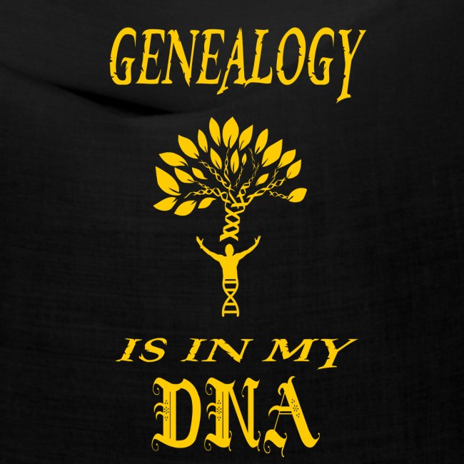 genealogy is in my dna funny birthday gift yellow
