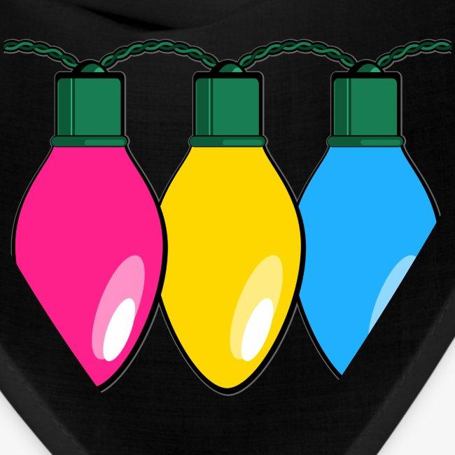 Pansexual Pride Christmas Lights