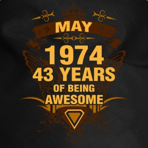 May 1974 43 Years of Being Awesome - Dog Bandana