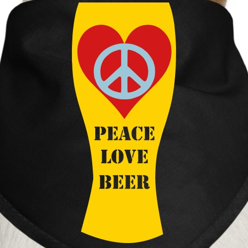 Peace Love Beer - Dog Bandana