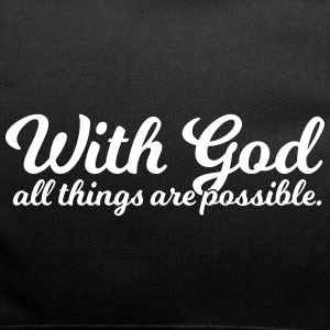 With God All Things Are Possible - Duffel Bag