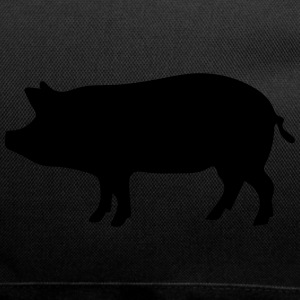 Little Pig Pork Peggy Icon Black 1c - Duffel Bag
