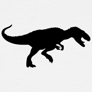 Dinosaur vector Silhouette - Men's Tall T-Shirt