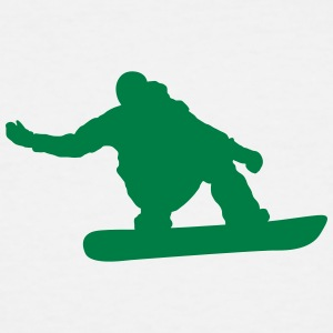 snow boarder silhouette 6 - Men's Tall T-Shirt