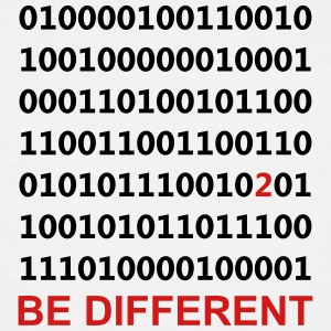 Binary - be different - Men's Tall T-Shirt