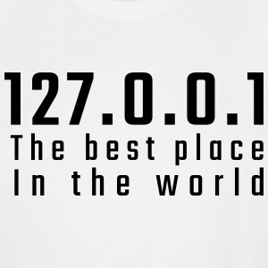 127.0.0.1 The best place in the world - Men's Tall T-Shirt