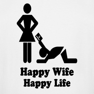 Happy Wife Happy Life - Men's Tall T-Shirt
