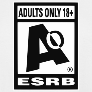 ESRB Adult Ratig Edition - Men's Tall T-Shirt