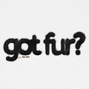 got fur?-Furry Fun-Gay Bear Pride-Black Bear - Men's Tall T-Shirt