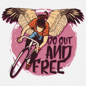 Wings bicycle cyclist go out and free inscription - Men's Tall T-Shirt