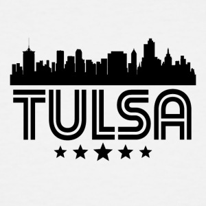 Retro Tulsa Skyline - Men's Tall T-Shirt