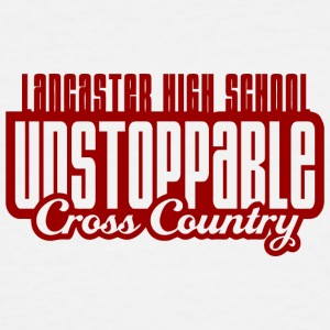 LANCASTER HIGH SCHOOL UNSTOPPABLE Cross Country - Men's Tall T-Shirt