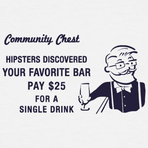 Hipster Monopoly - Men's Tall T-Shirt