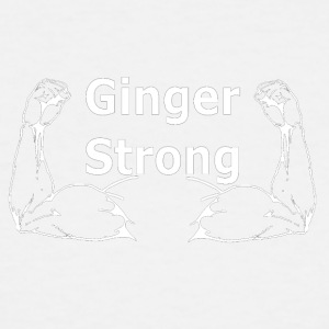 Ginger Strong White - Men's Tall T-Shirt