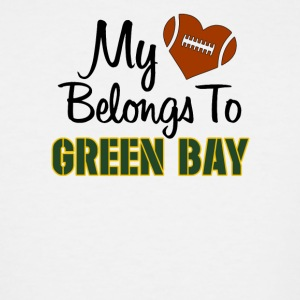 My Heart belongs to Green Bay - Men's Tall T-Shirt