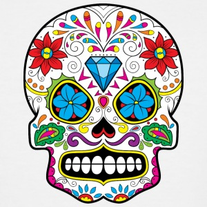 sugar_skull_with_diamond - Men's Tall T-Shirt