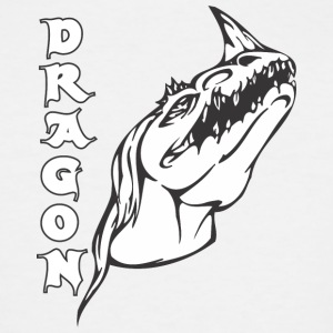 dragon_with_single_horn - Men's Tall T-Shirt