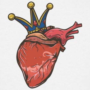 human_heart_with_crown - Men's Tall T-Shirt