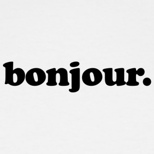 Bonjour - Fun Design (Black Letters) - Men's Tall T-Shirt