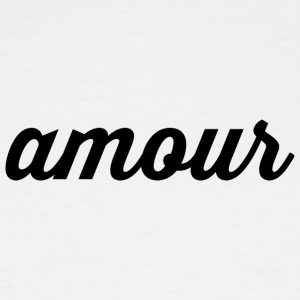 Amour - Cursive Design (Black Letters) - Men's Tall T-Shirt